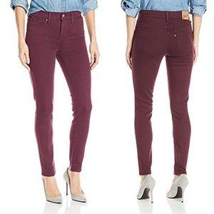 Levi's 311 Shaping Skinny Jean in Burgundy